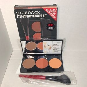 Smashbox Step By Step Contour Kit Deep With Brush